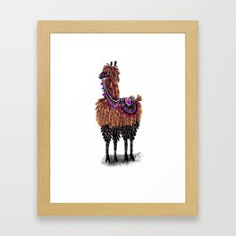 Lovely Lama Framed Art Print