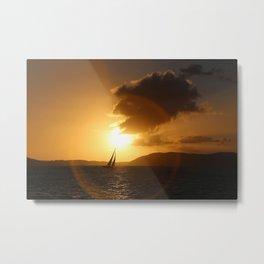 St John Sunset Sail-away Metal Print