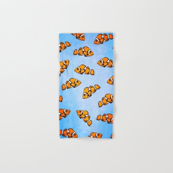 Clownfish Pattern Hand & Bath Towel