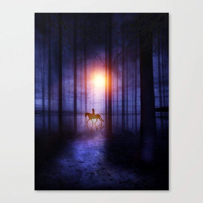 Rider on the sun Canvas Print