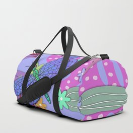 Fantasy Botanical Dragonfly Duffle Bag