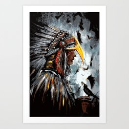 Christina of the Feathers Art Print