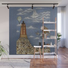 Ship in the Sky Wall Mural