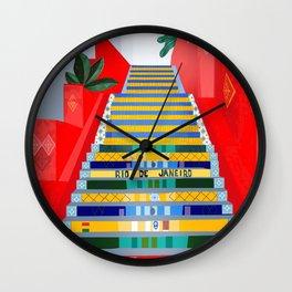 Rio de Janeiro, Selaron stairs Wall Clock