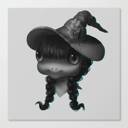 Frog Witch Canvas Print