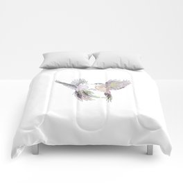 wedding birds, Birds of paradiese, Birds in love tropical bird home decor Comforters