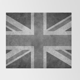 Union Jack Vintage retro style B&W 3:5 Throw Blanket