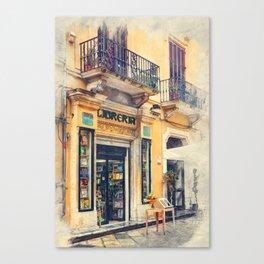Trapani art 21 Sicily Canvas Print