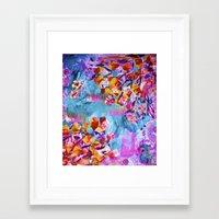 wonderland Framed Art Prints featuring wonderland by Lara Gurney