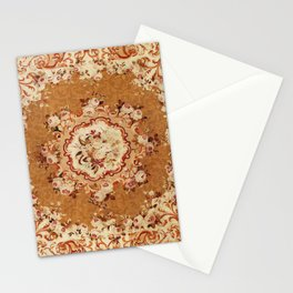 Aubusson 19th Century French Floral Rug Print Stationery Cards