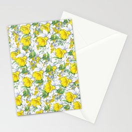 Yellow Daffodils Bloom Stationery Cards