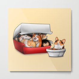 Corgi Nuggets Metal Print