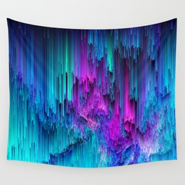 Neon Drifting - Pixel Art Wall Tapestry