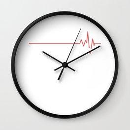 ER Nurse Heart Wall Clock