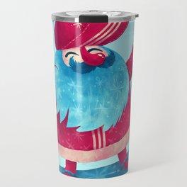 Snowboard Santa Travel Mug
