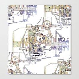 Mechanical Diagram Canvas Print