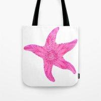 hawaiian Tote Bags featuring Hawaiian Starfish by Teresa Chipperfield Studios
