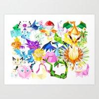 TriangleMons Art Print