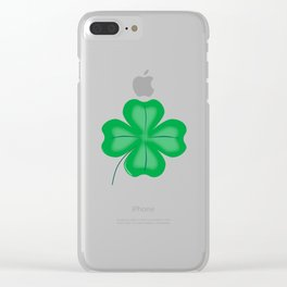 Lucky Four Leaf Shamrock Clear iPhone Case