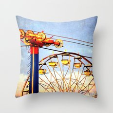 Wheels at the Ohio State Fair Throw Pillow