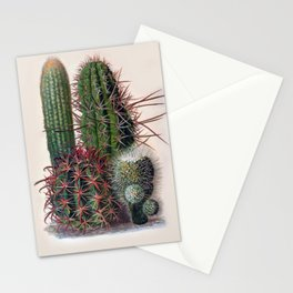 Vintage Cactus Print Stationery Cards