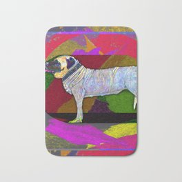 Mastifically Colorful Bath Mat