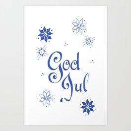 God Jul holiday card Art Print