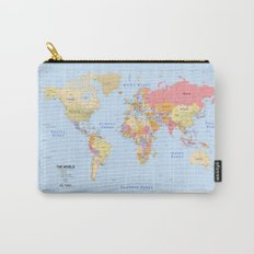 Political Map of The World - I Carry-All Pouch