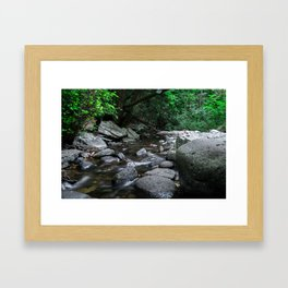 River flowing Framed Art Print