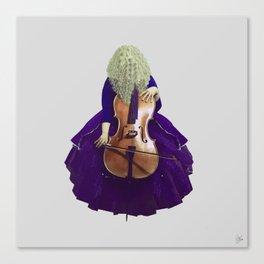 Ultra Blue Cellist Canvas Print