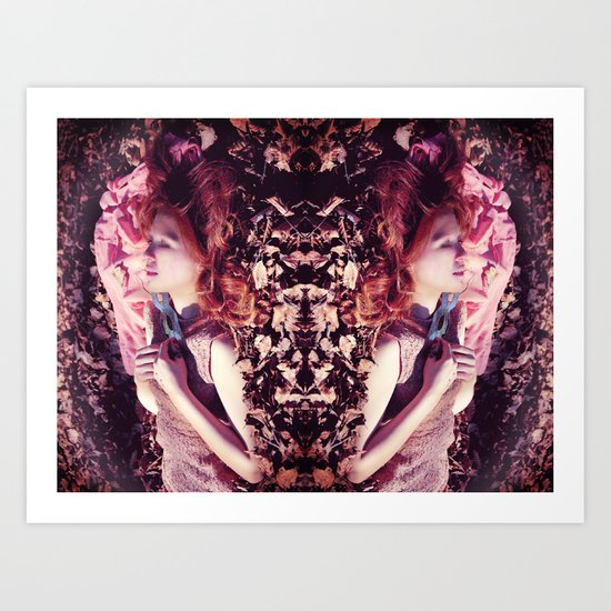Ginger sleeping beauty  Art Print