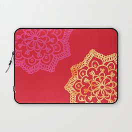 Happy bright lace flower - red Laptop Sleeve