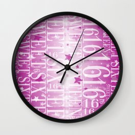 Sweet sixteen Wall Clock
