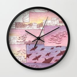over head Wall Clock