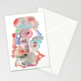 Watercolor red Stationery Cards