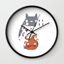 My Neighbor Totorro Collage Wall Clock