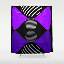 violet twin glob Shower Curtain