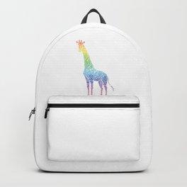 Giraffe Lovers Safari Animals Wildlife Zoo Gift Giraffe Rainbow Backpack