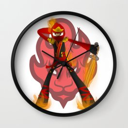 Flaming Kai Wall Clock