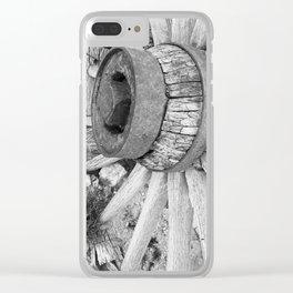 Wagon wheel ghost town rhyolite California Clear iPhone Case
