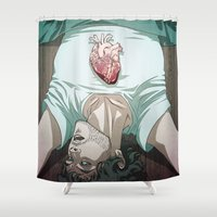 will graham Shower Curtains featuring Remarkable Boy (Will Graham) by Pana Stamos