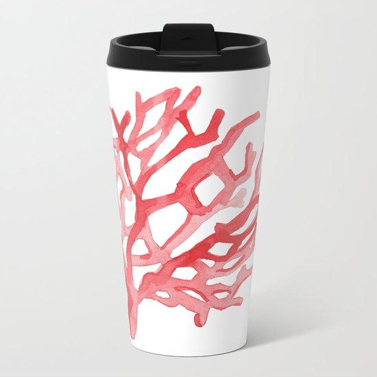 Red Coral no.3 Metal Travel Mug