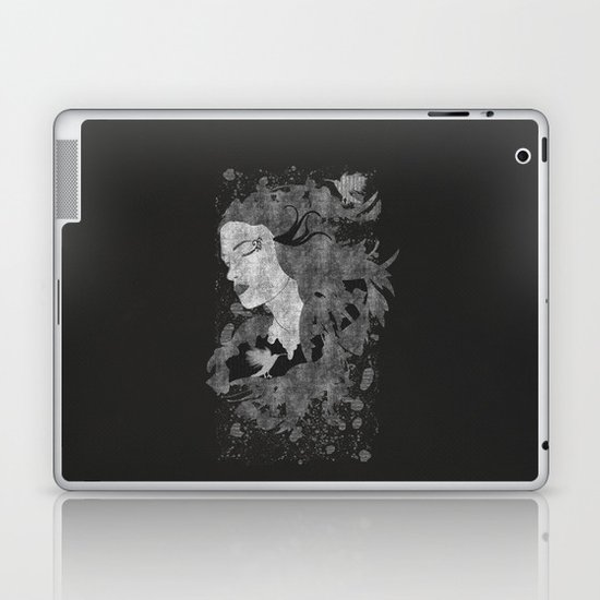 Cosmic dreams (B&W) Laptop & iPad Skin
