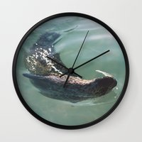 seal Wall Clocks featuring Seal  by Chelle Wootten