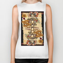 'Cheshire' (Alice in Wonderland Steampunk Series) Biker Tank