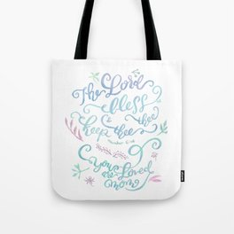 You Are Loved Mom - Number 6:24 Tote Bag