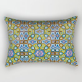 Persian Mosaic Tile Pattern Rectangular Pillow