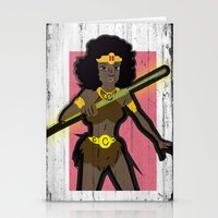 dungeons and dragons Stationery Cards featuring DUNGEONS & DRAGONS - DIANA by Zorio