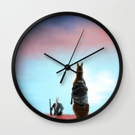 The Old Days Wall Clock