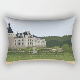 Chateau de Chenonceau (no writing) Rectangular Pillow